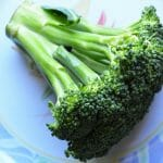 broccoli spear on plate