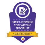 direct-response copywriting certification badge